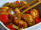 Pollo agridulce chino