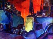 """Ocaso Astillero """".óleo espátula lienzo. 1998.073"""