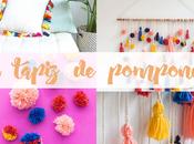 Diy: mural pompones colores