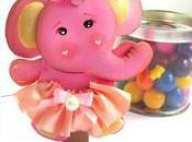 Elefantito foami dulces para baby shower cumpleaños