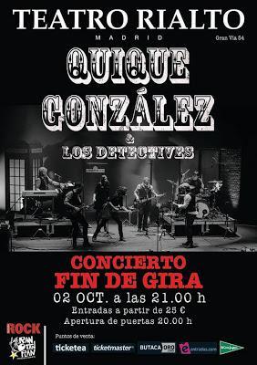 Quique gonz lez cerrar gira en octubre en el teatro for Quique gonzalez madrid