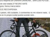 Ciclista potosino recorre países aquí roban bicicleta