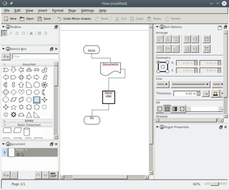 Calligra Flow Screenshot