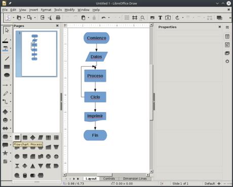 LibreOffice Draw Screenshot