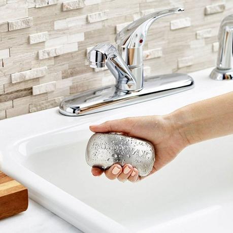 Barra de acero inoxidable de jabón elimina olores desagradables como el ajo, cebolla o pescado