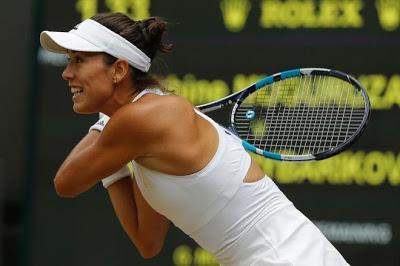 Garbiñe Muguruza hoy en la final de Wimbledon