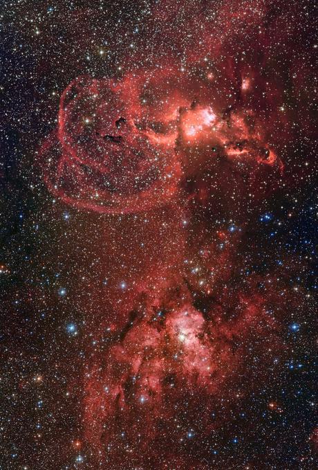 ✨Formación de estrellas en la zona austral de la Vía Láctea