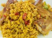 Receta arroz conejo (paella conejo)