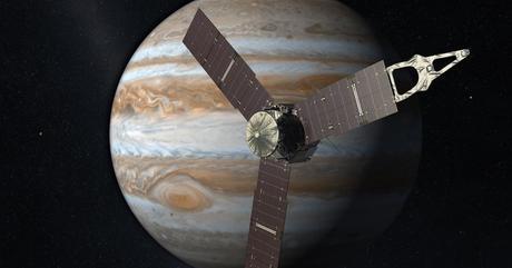 La gran mancha roja de Júpiter posa para Juno