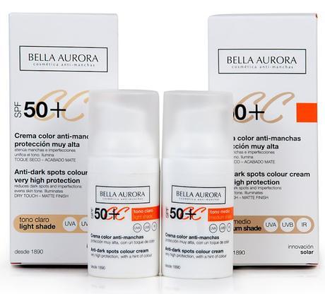 Piel Bonita y Protegida con la Nueva CC Cream SPF50+ de Bella Aurora