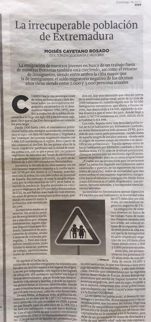 LA IRRECUPERABLE POBLACIÓN DE EXTREMADURAhttp://www.hoy.e...