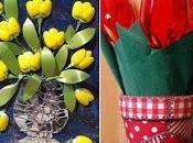 Cuadros flores decorativos reciclando cucharas tenedores plástico