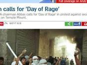 """""""moderada"""" Autoridad Palestina llama """"Día rabia""""."""