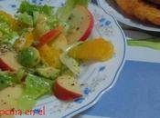 Ensalada manzana, aguacate citricos