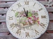 Como decorar reloj madera estilo vintage decoupage craquelado sello