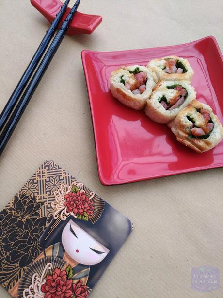 Idea para hacer en sandwichera: Sushi-Sándwich de Espinacas