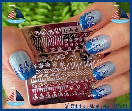 Regata con Holográfico azul y Azul Escarchado de Masglo