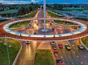 impresionante rotonda aérea para bicicletas Países Bajos