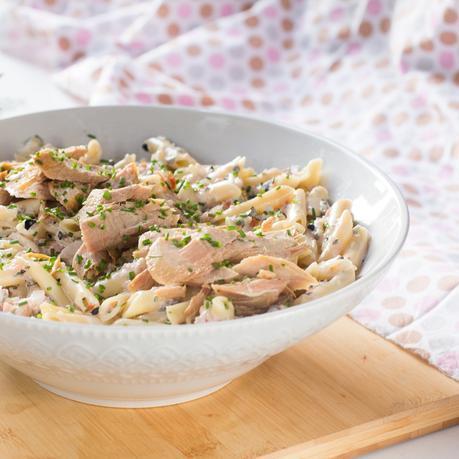 receta de ensalada de pasta con ventresca en conserva
