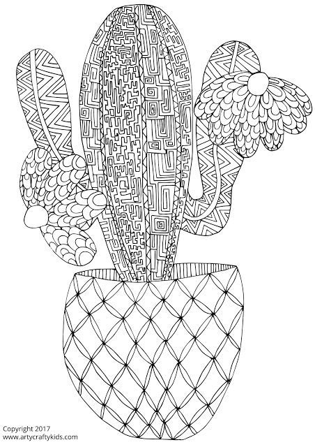 Cactus Para Colorear Gratis Paperblog