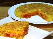 Tortipizza, tortilla rellena tomate, jamón york queso