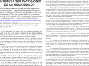 ¿INTERESA PATRIMONIO HUMANIDAD?Moisés Cayetano
