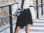 Asymetric denim skirt
