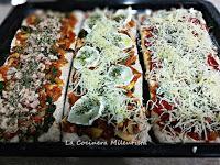 Pizza integral de espinacas con queso de cabra y dos más a elegir
