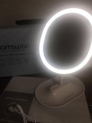 mi nuevo espejo con luces led intensidad de brillo y espejo desmontable de aumento x de shopping por amazon