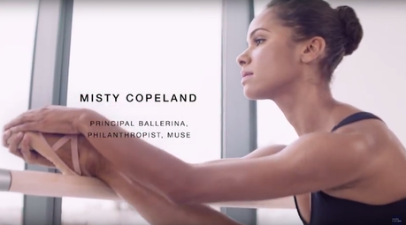 La bailarina Misty Copeland imagen de Estée Lauder
