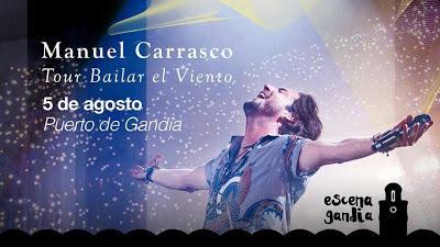 Manuel Carrasco dedica una canción a Gandia