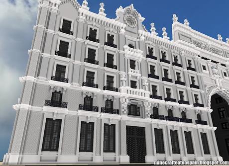 R plica minecraft del edifico banco de santander santander espa a paperblog - Casas de banco santander ...