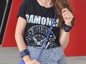 Minifalda vichy camiseta ramones