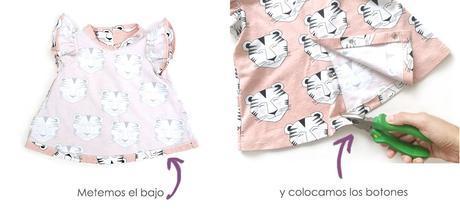 Vestido de Bebé con Mangas de Volante