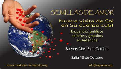 Visita de Sai en Su cuerpo sutil a Argentina