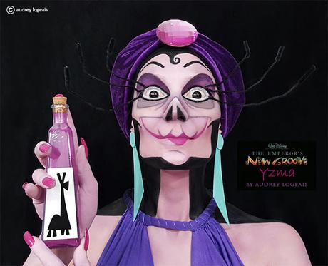 Chica Francesa muestra que maquillando se hace arte, ella convierte Personas en villanos de Disney