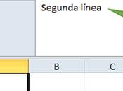 Como agregar nueva linea celda Excel Calc Libre Office