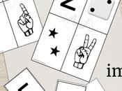 Tarjetas imprimibles: Números, dedos dados.