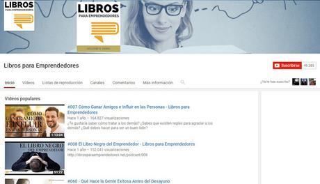 Youtube Libros para emprendedores