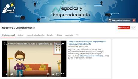 Youtube Negocios y Emprendimiento