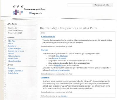 Prácticas formativas en AFA Parla