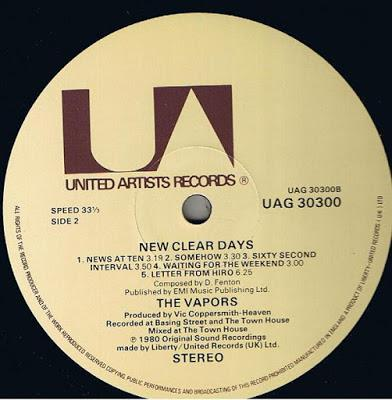 The Vapors -New clear days Lp 1980