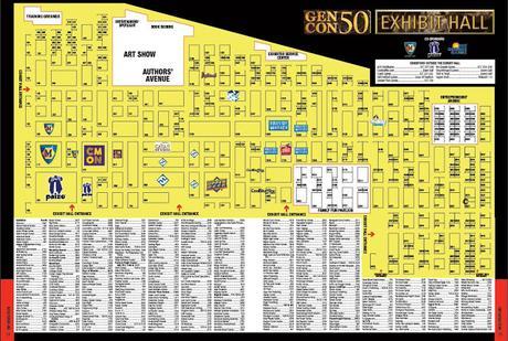 Gen Con Indy 50, plano y listado completo de empresas participantes