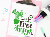 Free Hugs Abrazos gratis lamina para imprimir gratuita