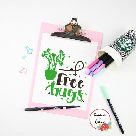 Free Hugs / Abrazos gratis , lamina para imprimir gratuita