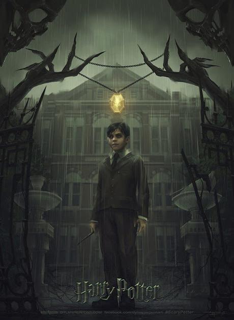 'Harry Potter': Mira la nueva versión tétrica y oscura de las portadas de los libros