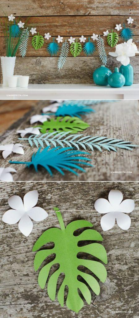 26 sencillas y útiles ideas con Flores de papel Hawaianas
