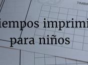 Pasatiempos imprimibles para niños. ¿Papel lápiz listos?