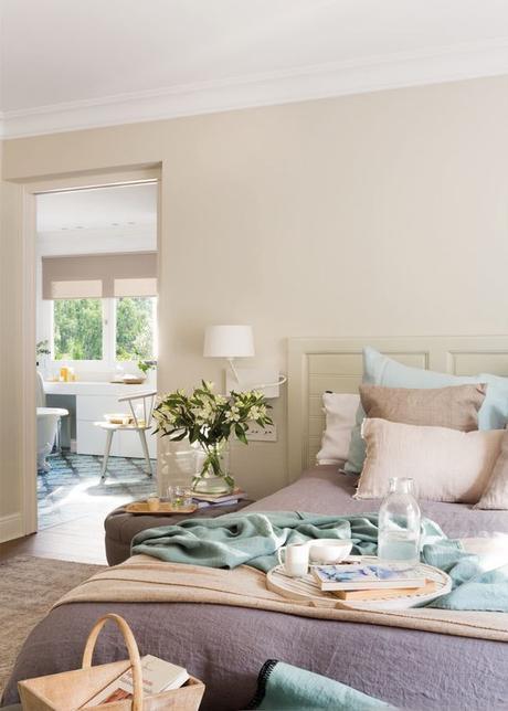 decorar con bandejas dormitorios