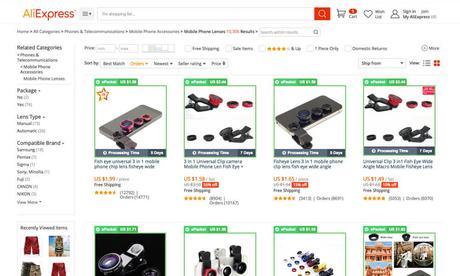 dropshopping aliexpress productos